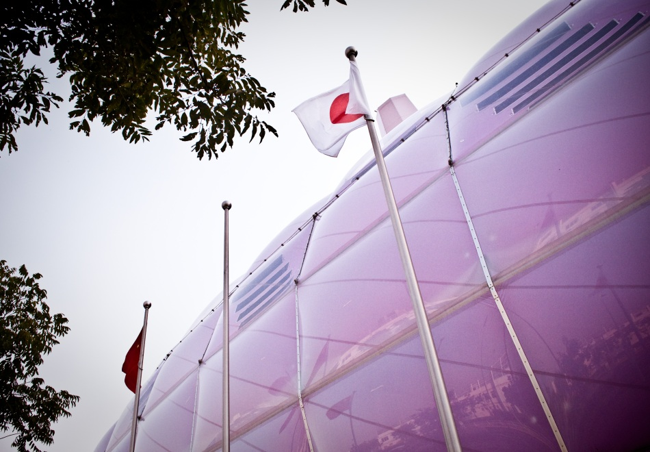 Picture taken at Japan Pavilion at Shanghai Expo, even with rising diplomatic tensions, the Japanese Pavilion remained one of the most popular destination)